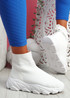 Roka White Sock Chunky Sneakers
