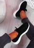 Mava Black Knit Running Sneakers