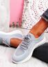 Mava Gray Knit Running Sneakers