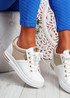 Jozy White Lace Up Trainers