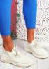 Koda Beige Knit Chunky Sneakers