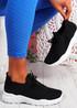 Koda Black White Knit Chunky Sneakers