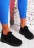 Koda Black Knit Chunky Sneakers