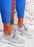 Koda Grey Knit Chunky Sneakers