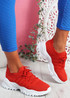 Tilla Red Chunky Sport Trainers
