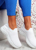 Noxy White Slip On Knit Trainers