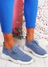 Vono Jeans Blue Knit Sport Sneakers