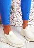 Noxy Beige Slip On Knit Trainers