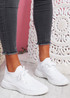 Mimmy White Knit Sport Trainers
