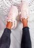Nizze Pink Chunky Trainers