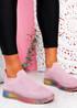 Tissy Pink Slip On Rainbow Trainers