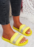 Nitto Yellow Diamante Studded Flat Sandals