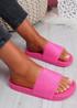Soha Fuchsia Flat Sandals Sliders