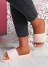 Soha Nude Flat Sandals Sliders