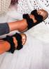 Hogy Black Bow Flat Sandals