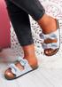 Hogy Blue Bow Flat Sandals
