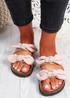 Hogy Pink Bow Flat Sandals