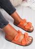 Hogy Orange Bow Flat Sandals