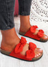 Hogy Red Bow Flat Sandals