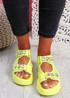 Aleha Green Rhinestone Chunky Sandals