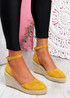 Tifa Yellow Wedges Platform Sandals
