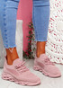 Timo Pink Knit Trainers