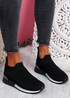 Rovy Black Sock Sneakers
