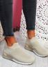 Rovy Beige Sock Sneakers
