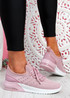 Bomy Pink Knit Sport Trainers