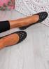 Bono Black Quilted Flat Ballerinas