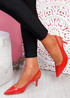 Inso Red Sling Back Stiletto Pumps