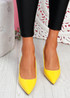 Inso Yellow Sling Back Stiletto Pumps