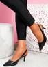 Inso Black Sling Back Stiletto Pumps