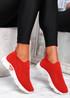 Komy Red Slip On Sneakers