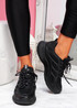 Forre Black Running Trainers