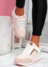 Felly Pink Wedge Trainers