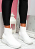Goba White Sock Sneakers