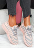 Paga Pink Knit Trainers