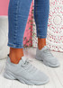Nilly Grey Chunky Knit Sneakers