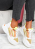 Lare Yellow Chunky Sneakers