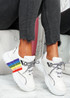 Sonni White Rainbow Chunky Trainers