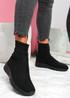 Mimmy All Black Sock Sneakers