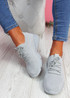 Donny Grey Lace Knit Sneakers