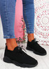 Donny Black Lace Knit Sneakers
