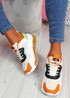 Goma Orange Clear Heel Trainers