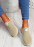 Heny Beige Slip On Trainers