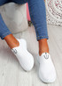 Heny White Slip On Trainers
