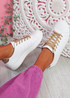Fone Brown Snake Lace Up Trainers