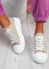 Firre Khaki Lace Up Sport Trainers