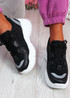 Hopy Black Chunky Sneakers